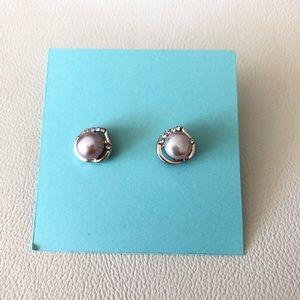 🐚 Freshwater Purple Pearl Stud Earrings